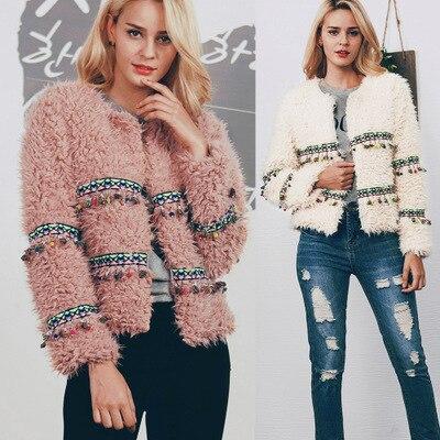Women New Free Shipping Fashion Faux Fur Coat MT0865
