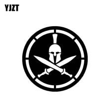YJZT 13*13CM vif Oem symbole romain guerrier décalque couvrant le corps soldat voiture autocollant noir/argent vinyle C21-0063