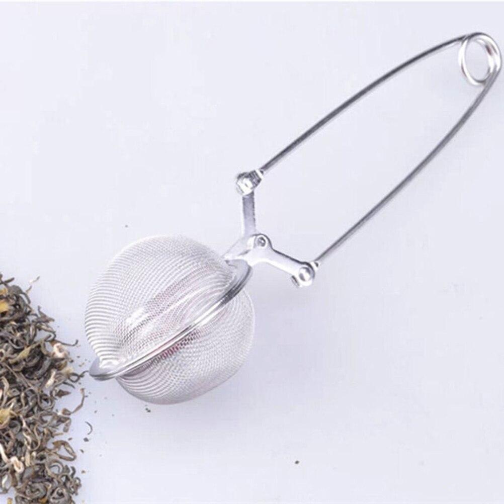 Escurridor de té con mango de acero inoxidable, 1 ud, Infusor de té, Infusor de té, escurridor de té de malla esférica