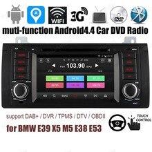 B/MW/E39/X5/M5/E38/E53 Android4.4 coche DVD reproductor de CD FM soy radio OBD DVR DAB + TPMS GPS BT 3G WiFi RDS