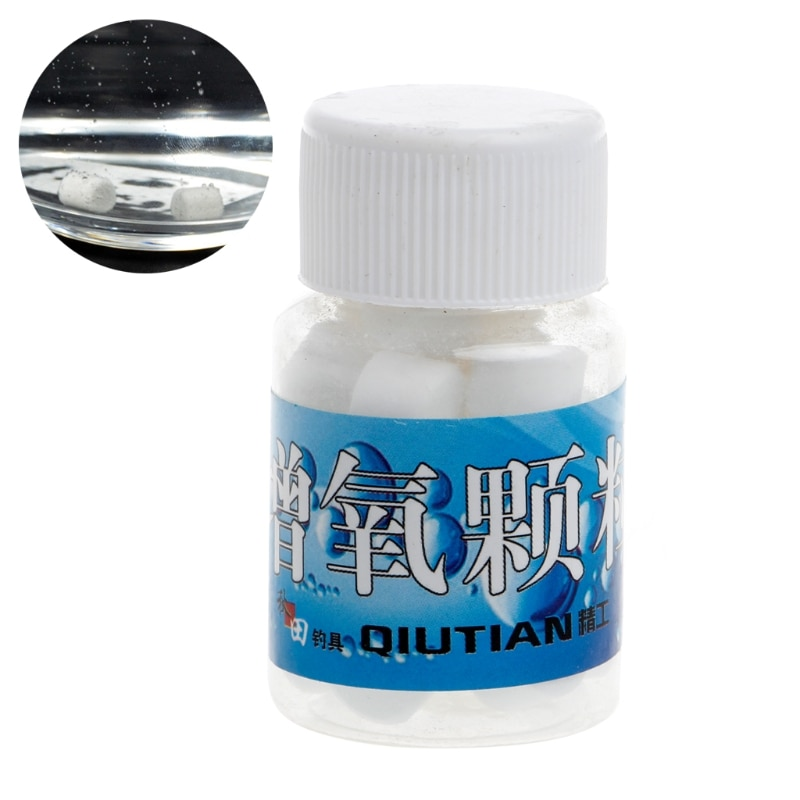 1 Bottle Oxygen Releasing Fishing Bait Carp Additive Tablets Transport Accessory