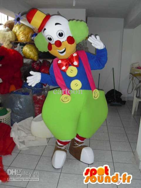 Payaso Traje de La Mascota de Adultos Disfraces Personaje de Dibujos Animados mascota traje Traje Fiesta de disfraces