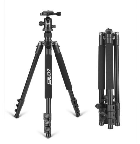 Zomei Q555 Профессиональный алюминиевый гибкий штатив для камеры с шаровой головкой для DSLR камер портативный