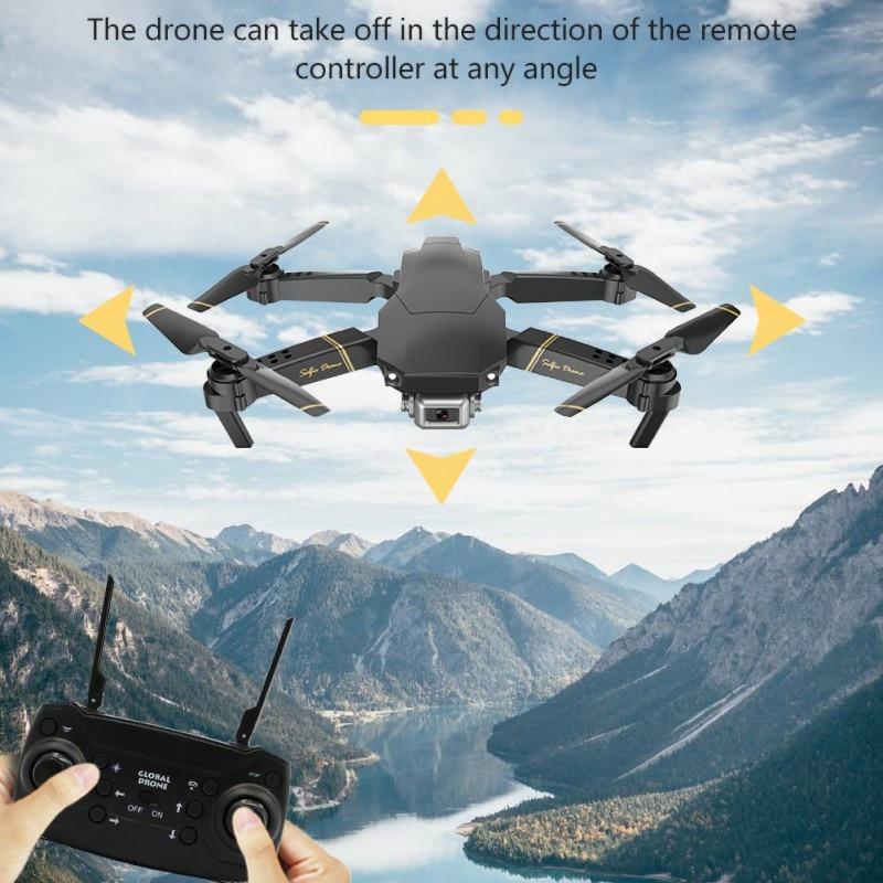 Plegable pequeño Control remoto Quadcopter altitud mantener Dron cámara Ultra suave gran angular caza al aire libre