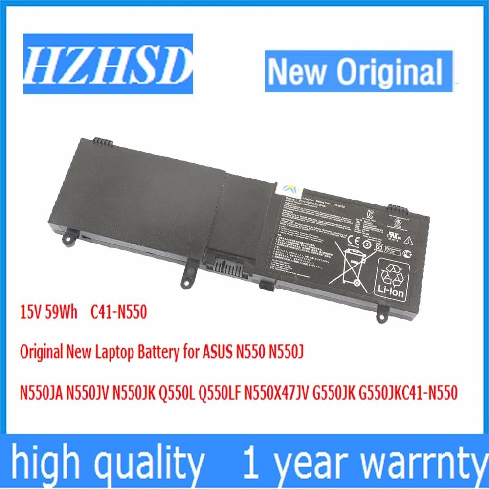 15 V 59Wh C41-N550 Original Nova Bateria Do Portátil para ASUS N550 N550JV N550JA N550J N550JK Q550L Q550LF N550X47JV G550JK G550JK