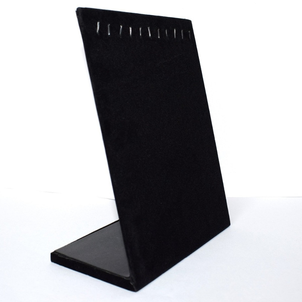 Black Velvet 10 Hook Necklace Organizer/Tray/Pad /Showcase/ Display case