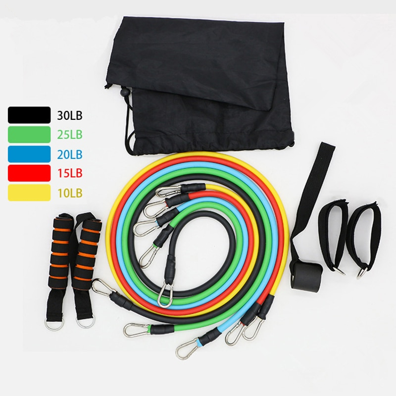 11 piezas bandas elásticas de resistencia de Fitness elástico gimnasio bucles de cuerda deportes entrenamiento de fuerza bandas de caucho para yoga