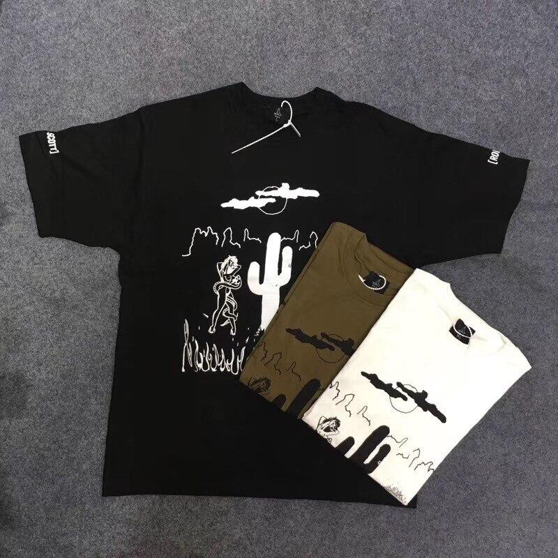 Футболка для мужчин и женщин Трэвиса Скотта, редкая футболка с принтом «Rodeo Tour Astroworld», летняя футболка, 2019