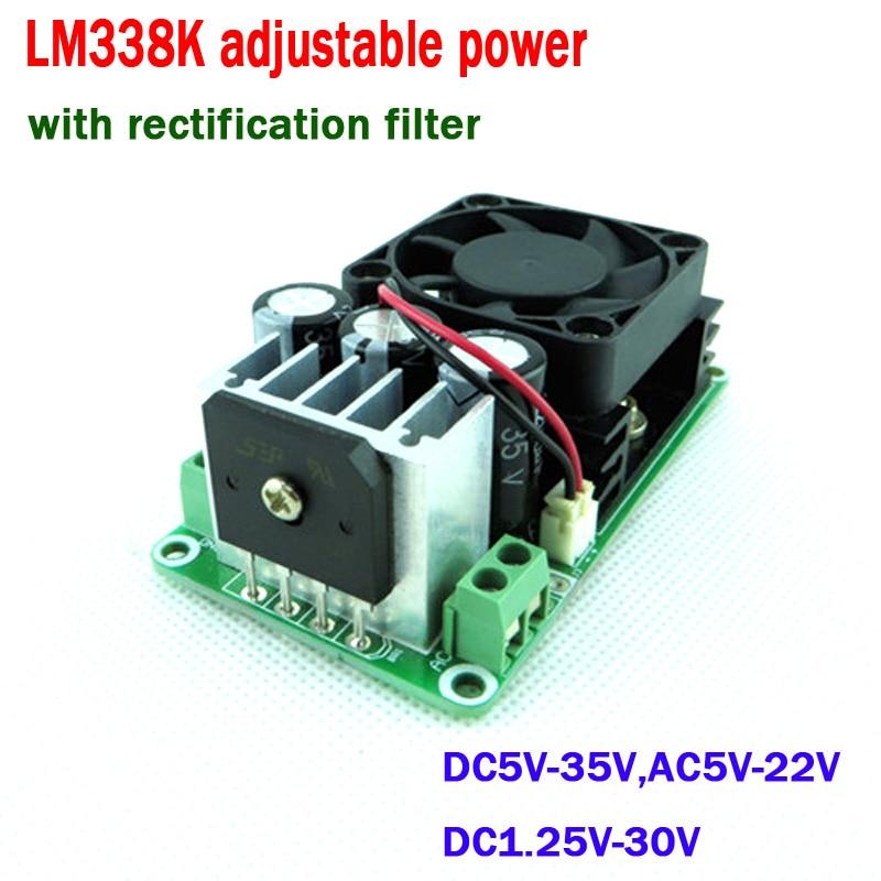 LM338K Adjustable power supply board voltage regulator linear regulator module W/ rectification filter 3.3V 3V 5V 9V 12V 15V 24V