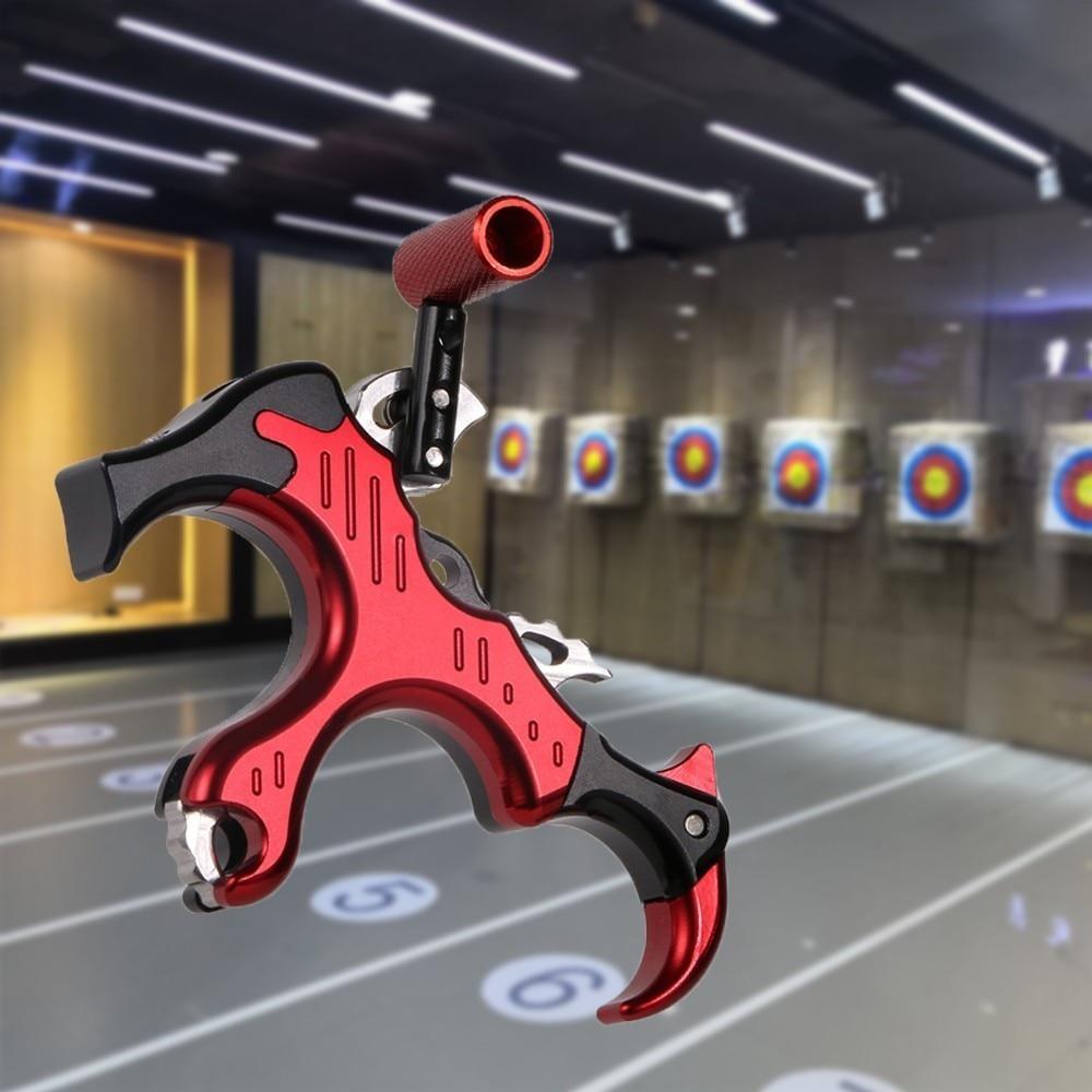 Ayuda de liberación de arco de Tiro con Arco 3 dedo pulgar pinza disparador agarre caza al aire libre entrenamiento para hombres mujeres práctica ayuda de liberación