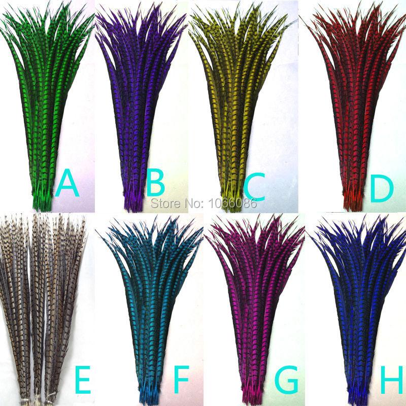 EMS envío gratis 80-90cm 30-35 pulgadas 170 Uds colores surtidos ringneck Faisán de Amherst para mujer colas plumas faisán