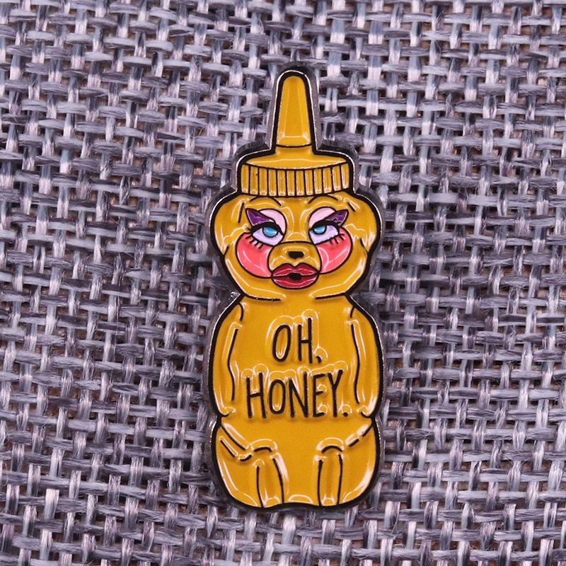 Эмалированная штифт Trixie Mattel Oh Honey Hunty Bee, розовая штифтовая штифта Rupaul Drag гоночный/Drag Queen