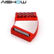 Diseño novedoso de silicona de acordeón, memoria usb de 4 gb, 8 gb, 16 gb, 32 gb, memoria usb con dibujo animado, memoria usb