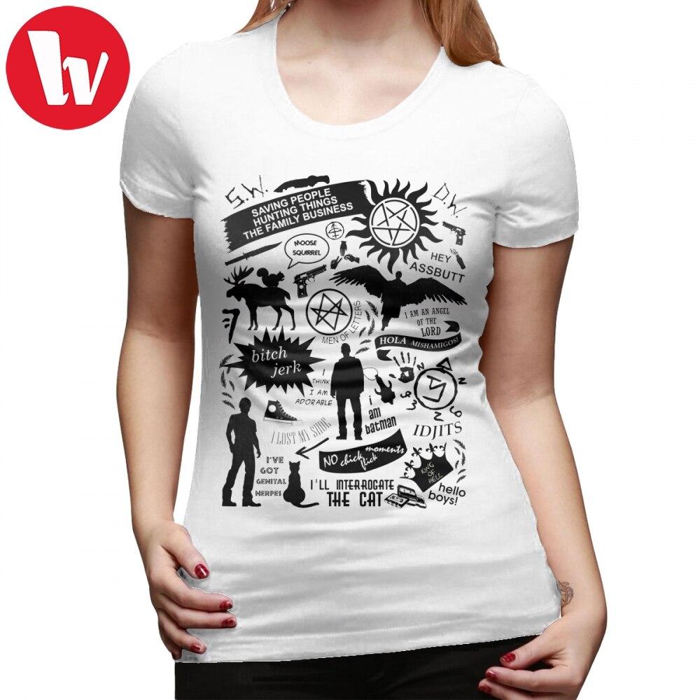 Hell T-Shirt Supernatural Items T Shirt Graphic XXL Women tshirt O Neck White 100 Cotton Kawaii Street Wear Ladies Tee Shirt