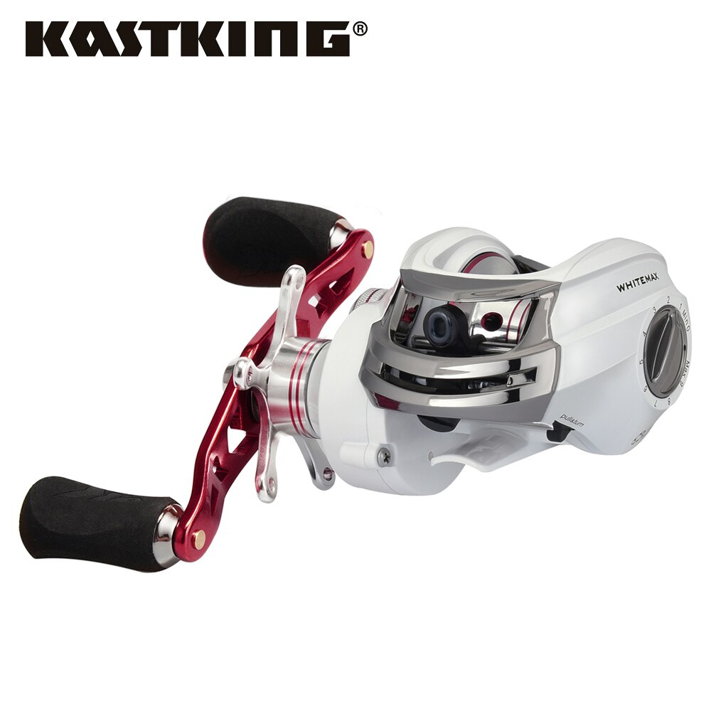Kastking whitemax baitcasting carretel 12 rolamentos de esferas da carpa engrenagem de pesca 8 kg max arraste isco fundição carretel de pesca