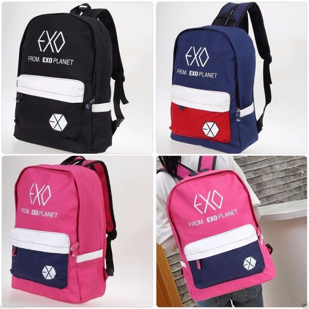 Mainlead nouveau K-POP EXO XOXO cartable cartable sac à dos étudiant livre sac unisexe Chanyeol