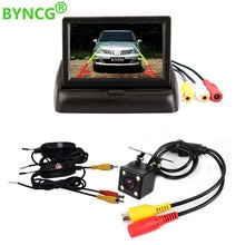 Byncg 4.3 Inch Tft Lcd Auto Monitor Opvouwbare Monitor Reverse Camera Parking System Voor Auto Achteruitkijkspiegel Monitoren Ntsc