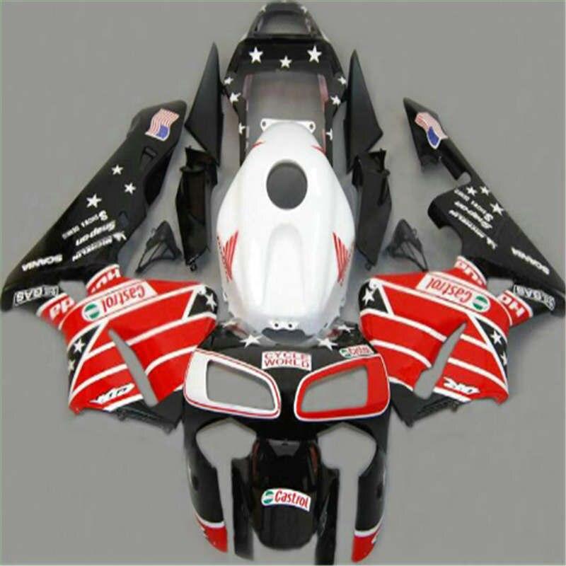 Kits de carenado nn-rojo blanco negro para CBR600RR 03 04 F5 CBR 600RR 03-04 CBR600 RR 2003 2004 carenados para negro blanco naranja