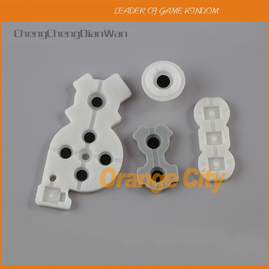 ChengChengDianWan botón conductivo o almohadilla de contacto de goma para Nintendo Wii control remoto 10 set/lote