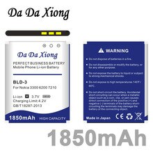 Da Da Xiong 1850mAh BLD-3 Li-ion Batterie De Téléphone pour Nokia 7210 2100 3300 6220 6610 7250 I6260 6200 6610 6610i 7250i téléphone
