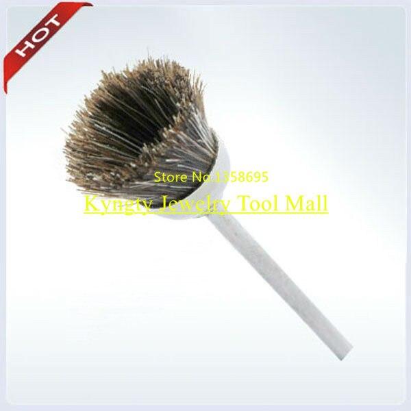 Cepillo Dental para la venta cepillo de pulido Dental cepillo de pelo de cabra gris Material de laboratorio Dental uso con máquina pulidora