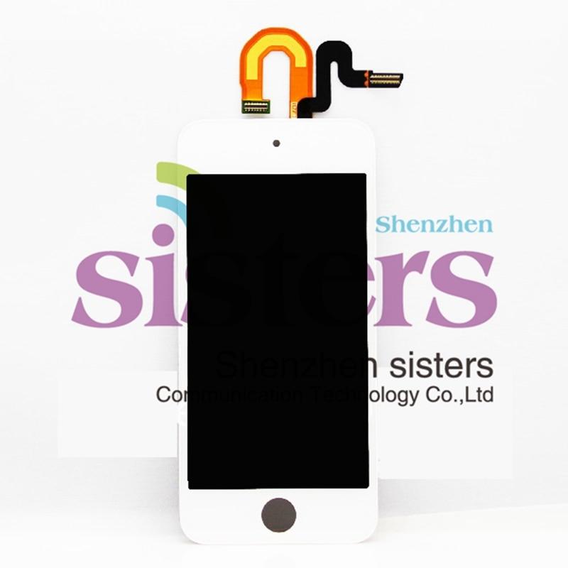10 unids/lote pantalla LCD blanca/negra de alta calidad garantizada + Digitalizador de pantalla táctil montaje completo para ipod touch5, envío gratis