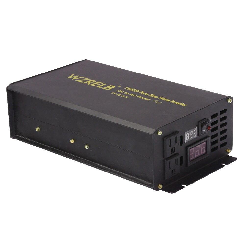 Onduleur solaire à onde sinusoïdale Pure   3000W, crête 1500W, grille hors réseau, 24V, 220V, batterie pour voiture, 12V/48V/72V cc à 120V/230V/240V