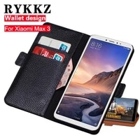 rykkz genuine leather flip cover card for xiaomi max 3 phone case wallet stand case leather cover for xiaomi max 3 max 2