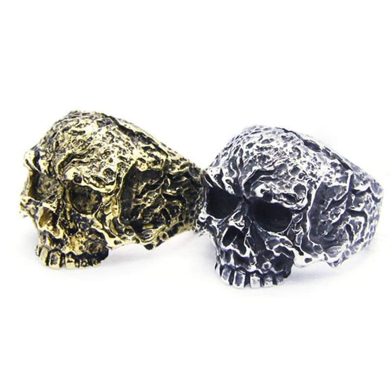 Anillo de calavera genial de la muerte de Rany & Roy 316L, anillo de estilo Pun de moda de acero inoxidable