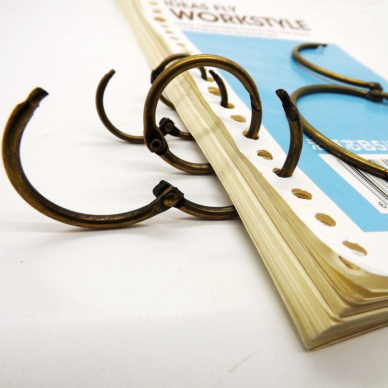 Бронзовое кольцо для переплета книг, подвесное кольцо для занавесок, кольцо для переплета в лист, кольцо с календарем