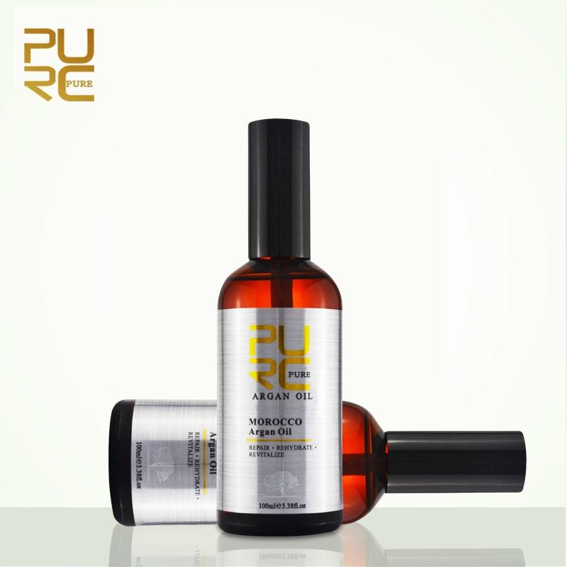 PURC Moroccan Argan Oil Repair Damaged Hair for Moisture Smooth Hair Growth Essential Oil 2 Pcs One Lot Best Hair Care 200ml