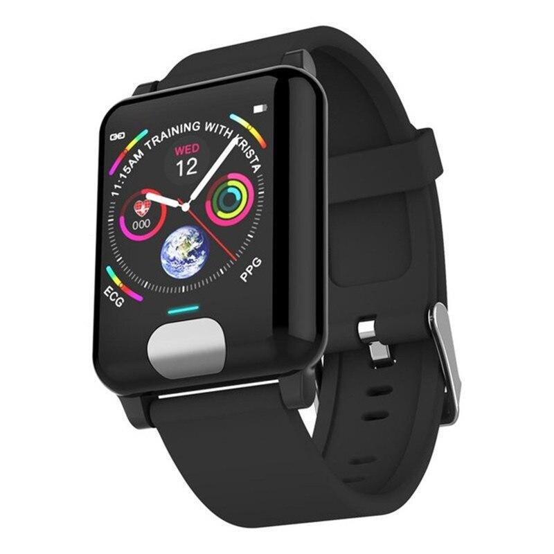 E04 relojes inteligentes impermeables ECG PPG Medición de la presión arterial rastreador de Fitness pulsera de reloj inteligente Gps Frecuencia Cardíaca para teléfono IOS