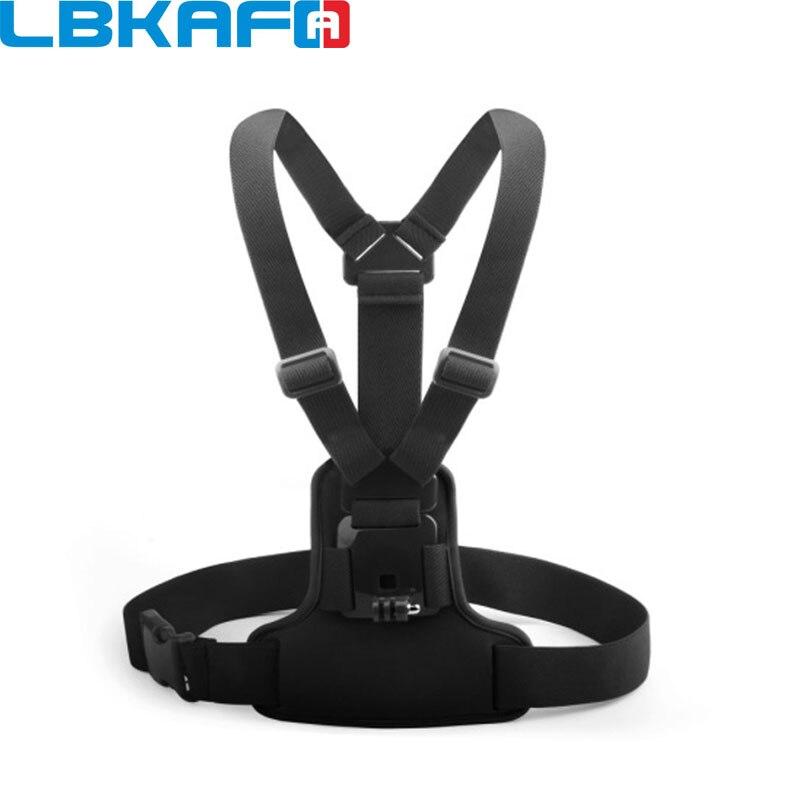 LBKAFA réglable élastique corps harnais poitrine sangle de montage ceinture pour Gopro Hero 8 7 6 5 SJCAM SJ4000 SJ5000 SJ6 SJ8 DJI YI