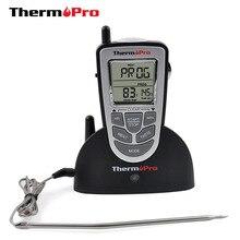 ThermoPro TP-09 300 pies inalámbrico remoto Digital electrónico para barbacoa/horno/ahumador/parrilla termómetro de cocina de alimentos
