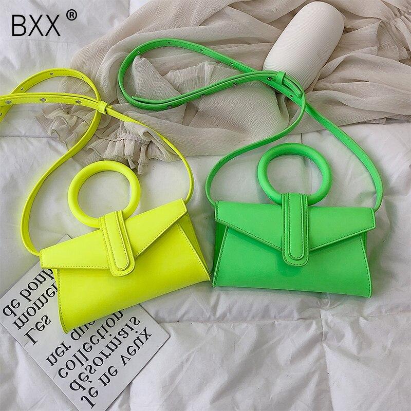 [BXX] bandolera de un solo hombro Para Mujer Todo-fósforo 2020 Casual Laides Mini bolso portátil Chic bolso de la cintura del pecho HE951