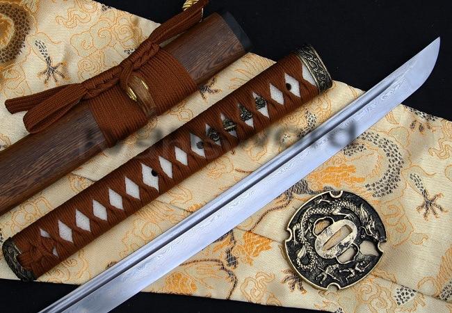 HIGH QUALITY FOLDED STEEL HULEE WOOD SAYA JAPANESE SAMURAI KATANA SWORD