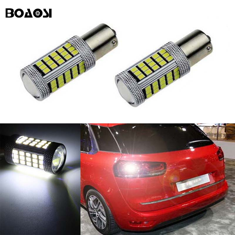 BOAOSI 2x Car 1156 BA15S LED 360 degree backup reverse light lamp Bulbs For Citroen C2 C3 C4 C8 Elysee Picasso ZX