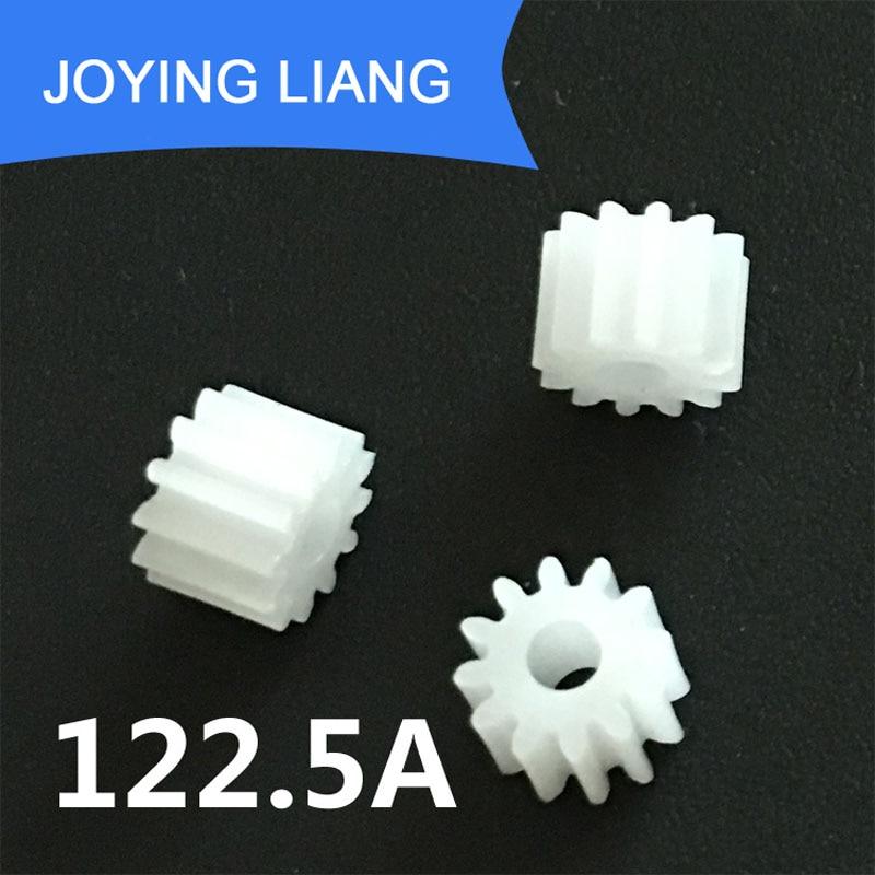 122.5A 0.5 متر التروس 2.5 ملليمتر ضيق حفرة قطرها معامل 0.5 12 الأسنان البلاستيك والعتاد DIY لعبة الاكسسوارات 5000 قطعة/الوحدة
