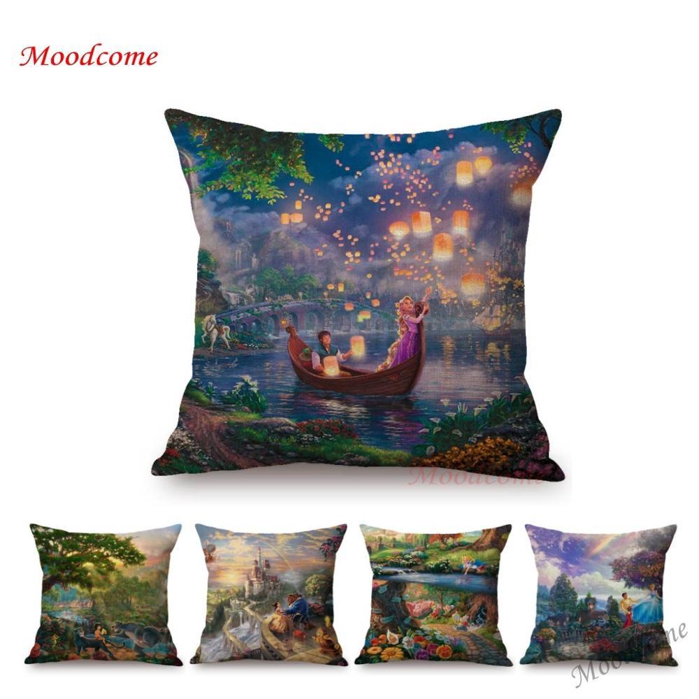 Красивый пейзаж мечта земля сказок украшение дома наволочка для дивана детская принцесса замок комната художественная Подушка Чехол