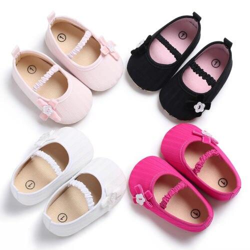 Zapatos de cuna casuales 0-18M zapatos de bebé para bebés recién nacidos niñas suela blanda zapatos de cuna de princesa Prewalker