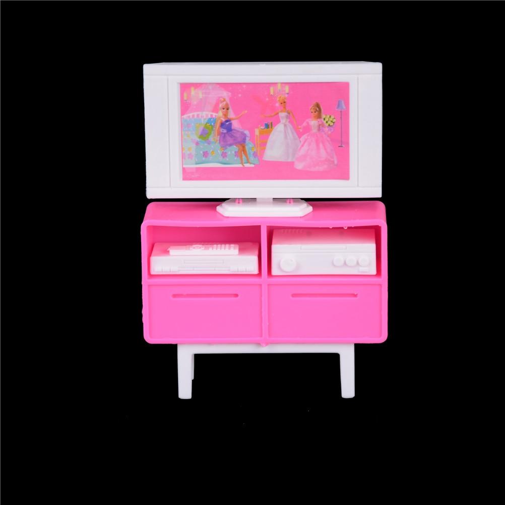 Muebles de plástico en miniatura para casa de muñecas Barbie, armario de...