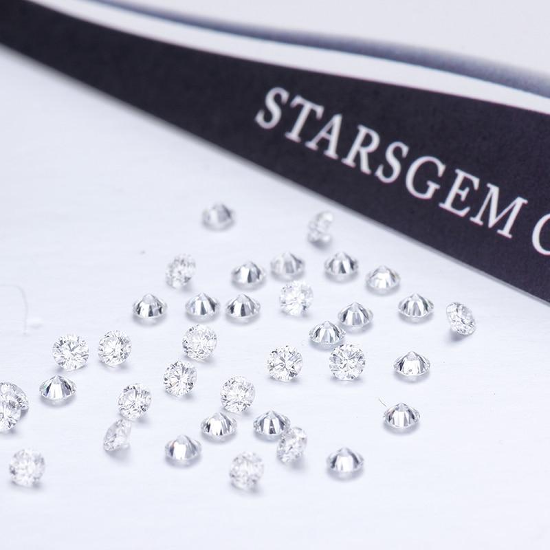 20 قطعة 1.5 مللي متر حجم صغير فضفاض الماس DEF اللون VS وضوح HPHT CVD مختبر نمت الماس لصنع المجوهرات