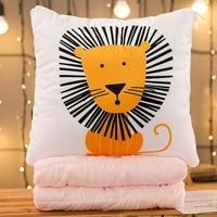 cotton and hemp quilt car blanket waist cushion lovely cotton and hemp cushion air conditioning sofa and pillow office