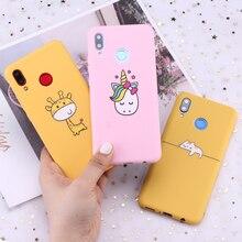 Für Huawei Honor Mate 10 20 Nova P20 P30 P Smart Niedlichen Cartoon Tiere Einhorn Candy Silikon Telefon Fall Abdeckung capa Fundas Coque