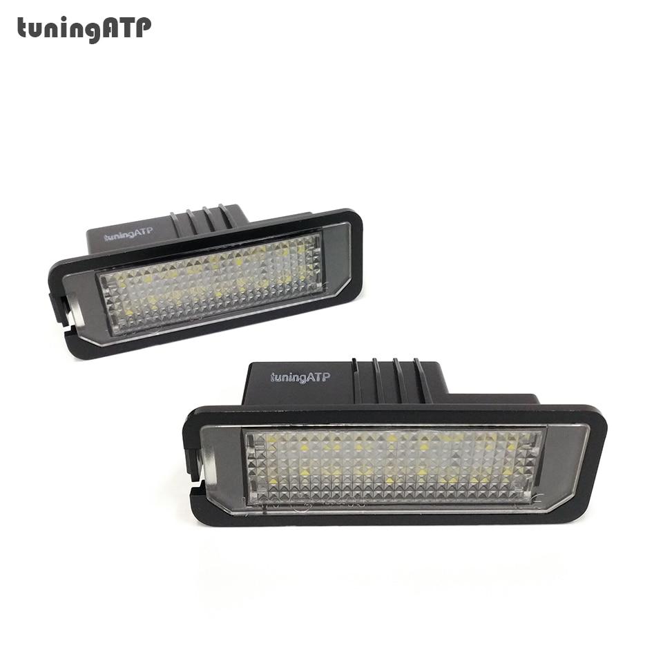 Bright White 18-SMD LED License Number Plate Lights For SEAT Leon Mk2 Leon Mk3 Exeo Sedan Exeo ST
