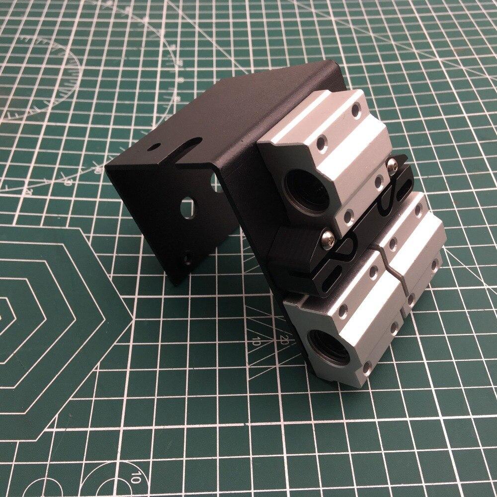 Reprap طابعة ثلاثية الأبعاد Prusa i3 Anet جميع المعادن X النقل مع حزام حامل ل MK8 الطارد 45 مللي متر رود المسافة الطارد النقل