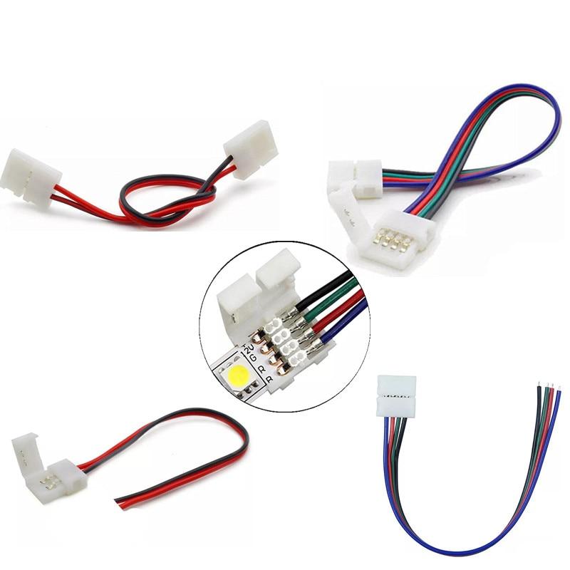 Connecteur LED bande de connexion à bande, avec 2/3/4/5 broches, 6 broches pour connecteurs de bande, couleur 3528, 5050, LED, rvb