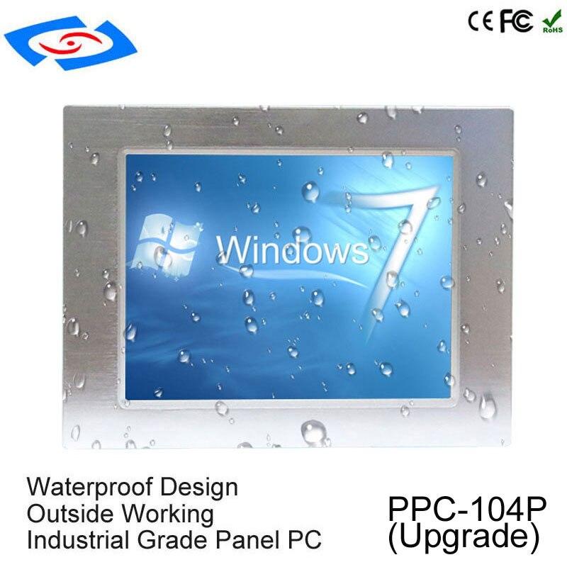 "10.4 ""Classe Industrial Panel PC RAM 4G SSD HHD Com Interface Touchscreen Para Executar Win SISTEMA OPERACIONAL Linux Automática máquina de bilhetes"