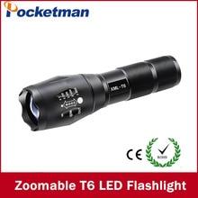 Lampe de poche LED 3800 Lumnes XM-L T6 LED lampe de poche tactique torche Zoomable lampe de poche torche lanterne gladiateur lampe de poche