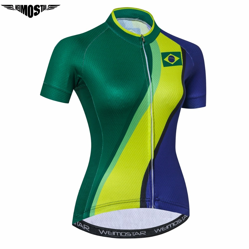 WEIMOSTAR Brasil mujeres Ciclismo Jersey Mtb Radfahren verano manga corta Ciclismo ropa deporte bicicleta Jersery ropa Ciclismo